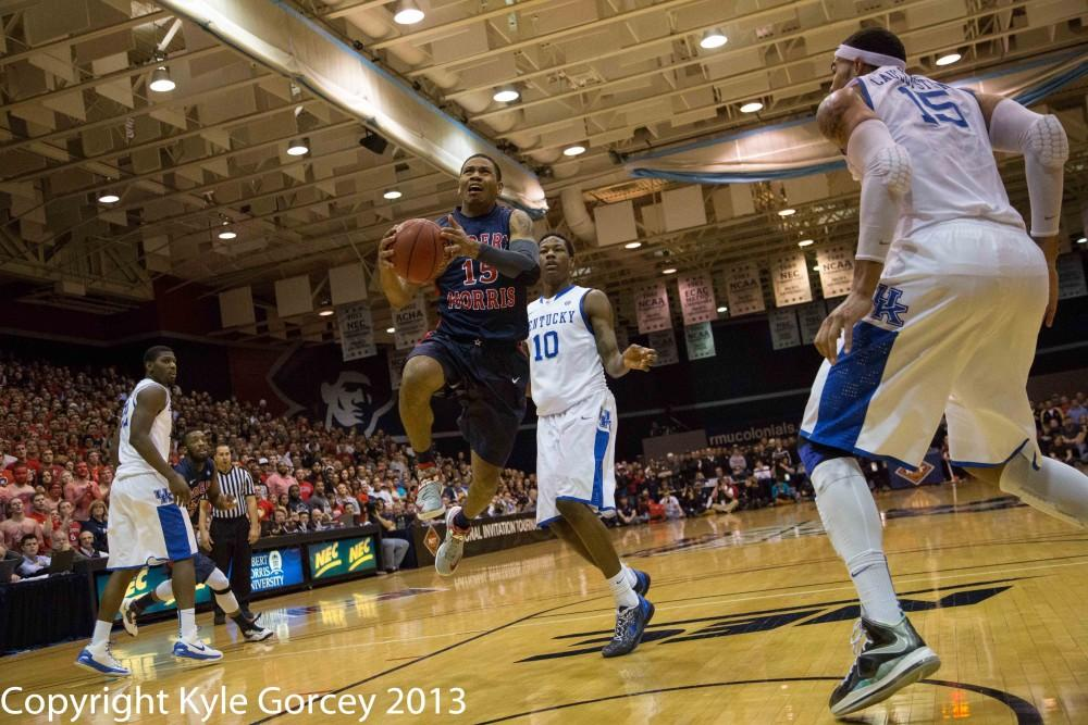 Colonials pull off improbable upset over Kentucky in NIT