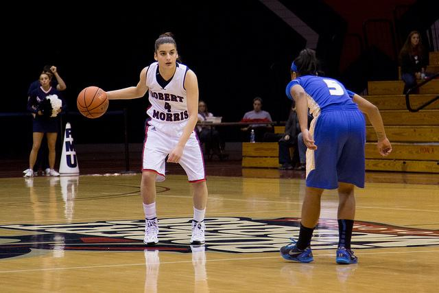 Stamolamprou averages 12 points a game for the Colonials.