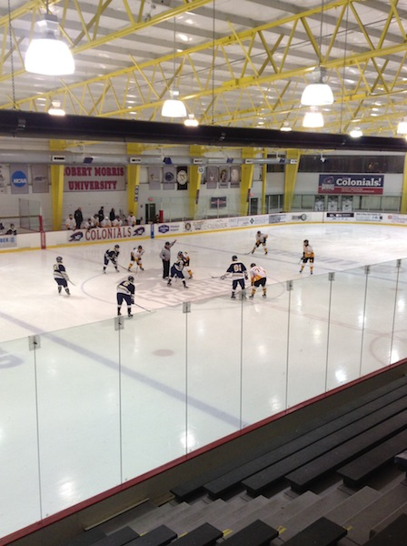 Franklin Regional (0-17-1) ready themselves before Monday nights matchup against Montour (3-13-2).