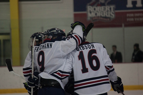 A late regulation goal lifted the Colonials past conference foe Holy Cross Friday night.