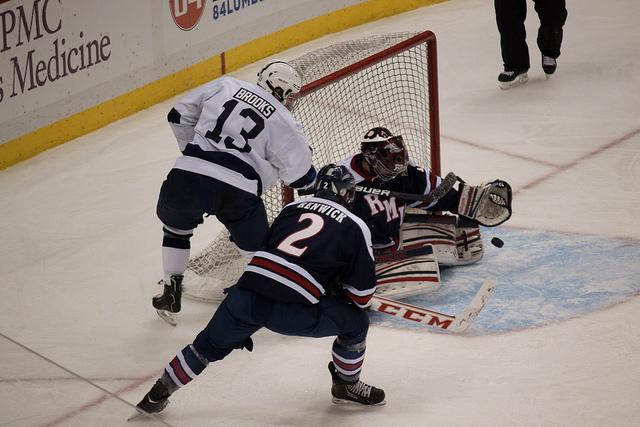 Shafer (above) will be competing with Izyk for the starting goaltender position.