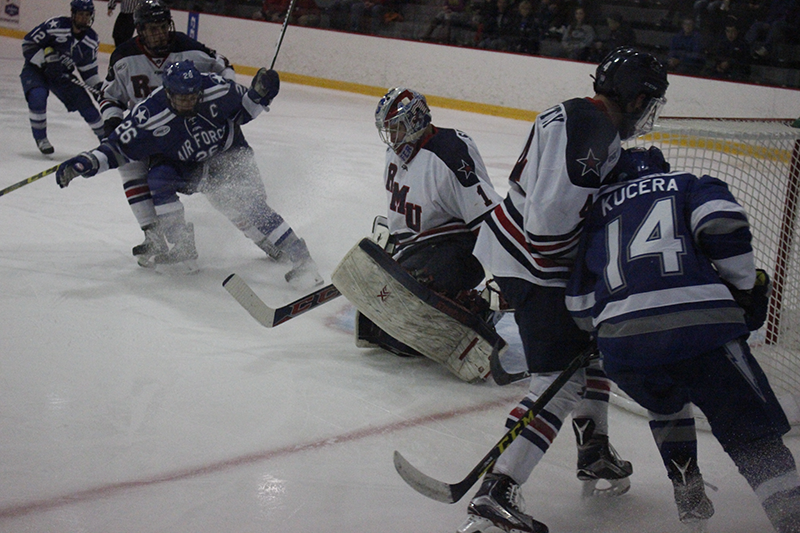 RMU+tied+with+Niagara+3-3+Friday+night+in+the+opening+game+of+the+weekend+series+against+the+Purple+Eagles.