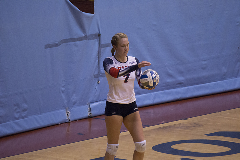 Arden Fisher and the rest of the RMU volleyball team's hopes for a playoff spot came to an end after a 3-1 loss Sunday.