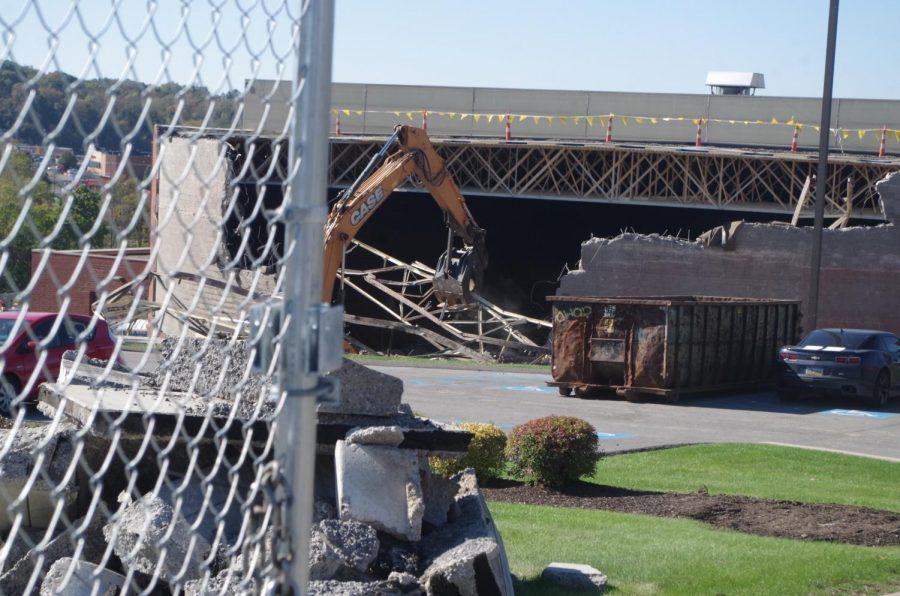 Demolition Begins on the Sewall Center.