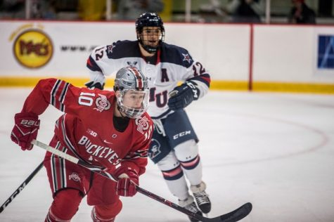 On Saturday, October 26th, the RMU Men's Hockey team took on Ohio State at 7:05pm.