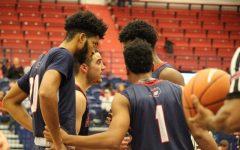 The RMU Men's Basketball team beat Duquesne 66 - 59 on November 19th, 2017.