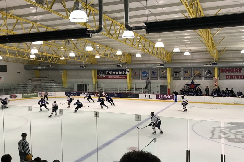 LIVE UPDATES: RMU men's hockey looks for win in second game vs Holy Cross