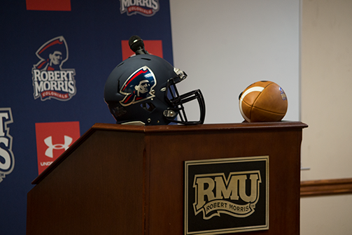 On Christmas Eve, the Colonials have brought in their eighth recruit of Bernard Clark's first complete class as head coach. Moon Twp. (Michael Evans/RMU Sentry Media)