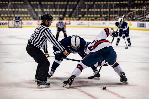 The RMU Men's Hockey Team took on PSU on Friday, December 8th, 2017.