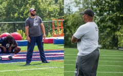 Linebackers coach Alex Dimichele(left) and defensive line coach Cornelius Coleman(right) are two of the latest departures from RMU football