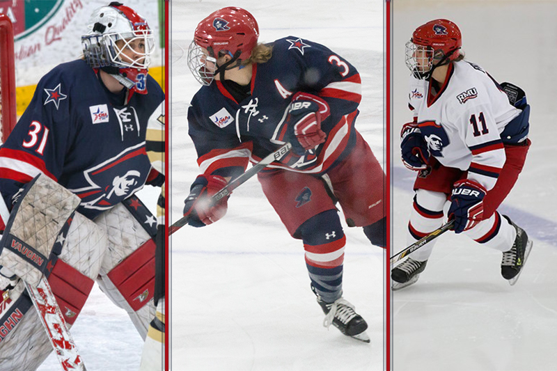 Three+RMU+women%27s+hockey+players+selected+in+CWHL+Draft