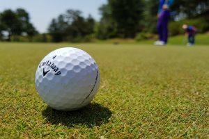Golf ball near green. Image Credit: <a href=