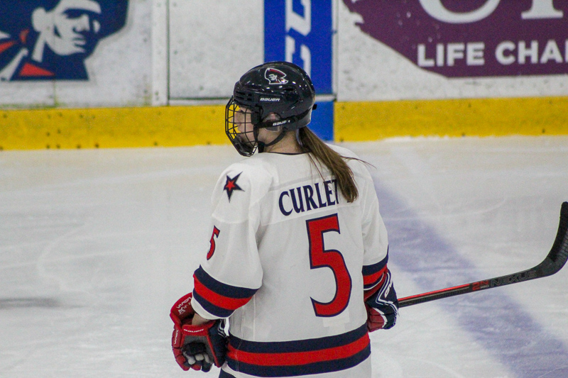 Curlett%27s+two+goals+leads+women%27s+hockey+to+sweep+over+RIT