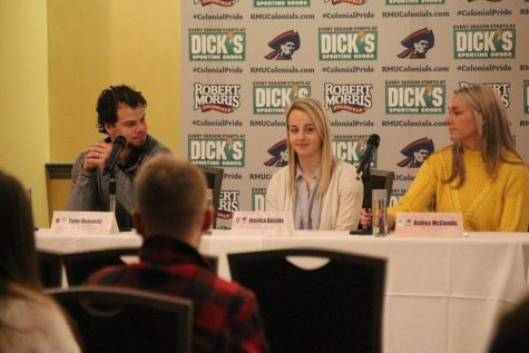 Panelists (from left): Tyler Kennedy, Jessica Gazzola, Ashley McCombs.