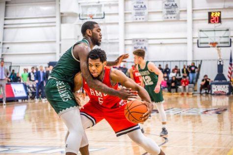 Men's basketball rebounds against Bryant