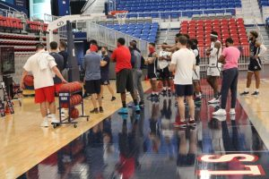 Men's basketball practices are officially underway. Photo Credit: Tyler Gallo