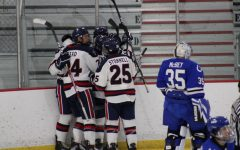 The Colonials celebrate Jordan Timmons' first goal as a Colonial. Photo Credit: Nathan Breisinger