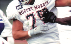 Hank Fraley was named to the NEC Mount Rushmore. Photo Credit: RMU Athletics