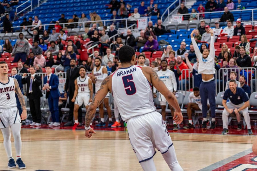 AJ Bramah and the rest of the Colonials will have another non-conference game this weekend, traveling down to Huntington, West Virginia to take on Marshall. Photo Credit: David Auth