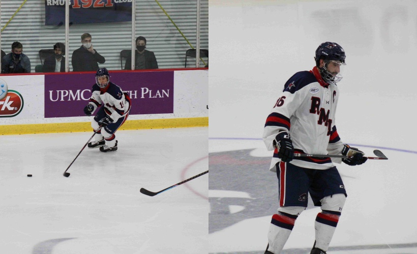 Randy+Hern%C3%A1ndez+%28left%29+and+Nick+Prkusic+%28right%29+picked+up+Atlantic+Hockey+monthly+honors+for+November.+Photo%28s%29+credit%3A+Nathan+Breisinger