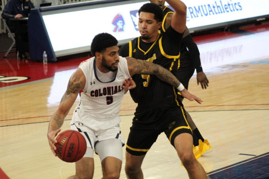 AJ Bramah picked up 20 points as the Colonials knocked off Milwaukee in the first of their two-game set. Photo Credit: Ethan Morrison