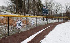 Softball's retired numbers. Photo Credit: Tyler Gallo