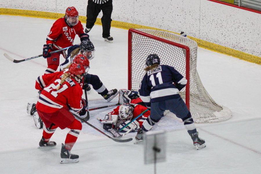 Penn State swept the weekend series against women's hockey. Photo Credit: Nathan Breisinger
