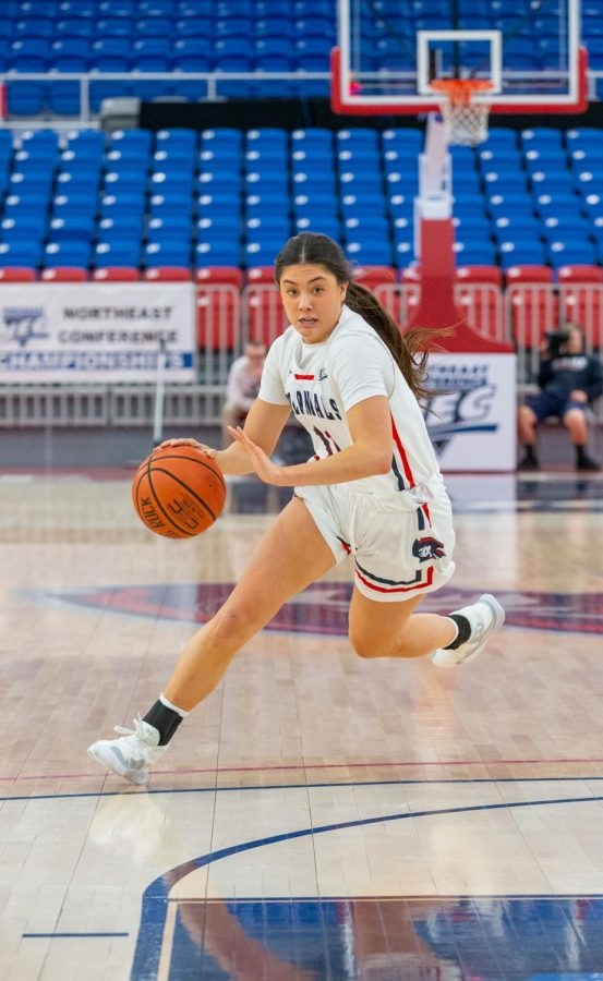 Natalie Villaflor and the Colonials will try to knock off the Raiders on the road this weekend. Photo Credit: Thomas Ognibene