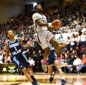 Justin Winston transferred to Robert Morris from St. Bonaventure. He was appearing on the Colonials' bench during their weekend series with Northern Kentucky. Photo Credit: St. Bonaventure Athletics