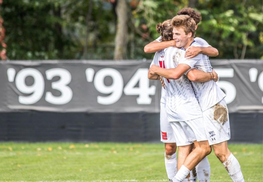 Men's soccer hosts Cleveland State this weekend. Photo Credit: David Auth