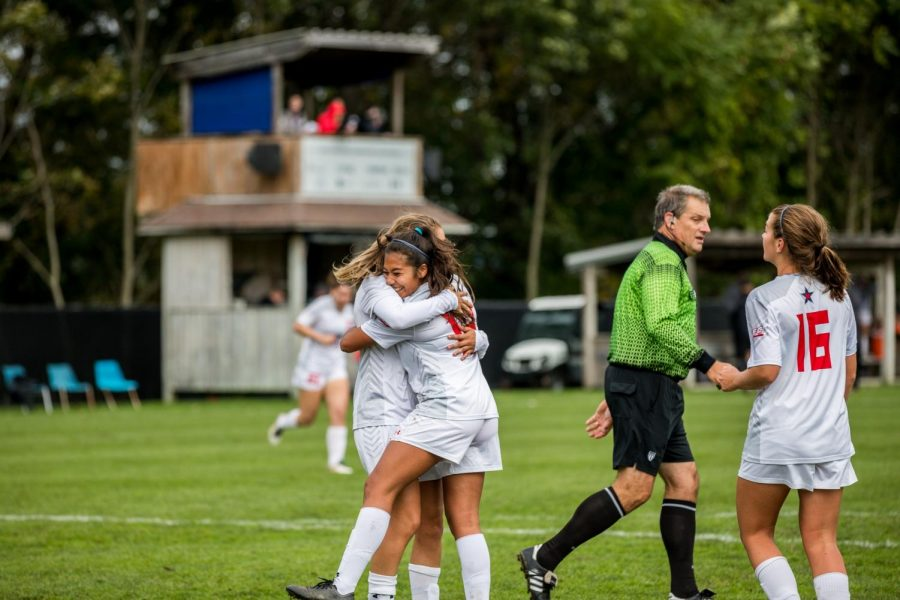Women's soccer takes on Saint Francis on Wednesday. Photo Credit: David Auth