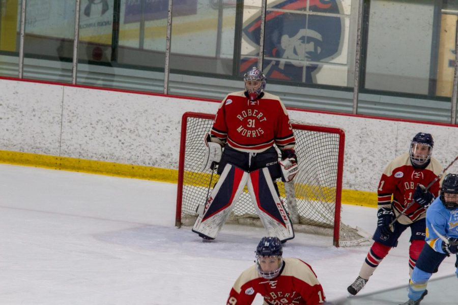 Noah+West+notched+his+first+collegiate+shutout+in+the+Colonials%27+4-0+victory+over+LIU+on+Saturday.+Photo+Credit%3A+Garret+Roberts