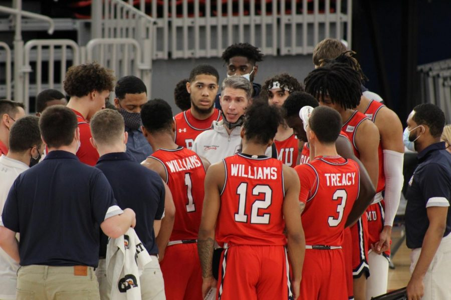Men%27s+basketball+will+clash+with+Detroit+Mercy+for+the+third+consecutive+game+in+their+opening+matchup+of+the+Horizon+League+playoffs.+Photo+Credit%3A+Ethan+Morrison