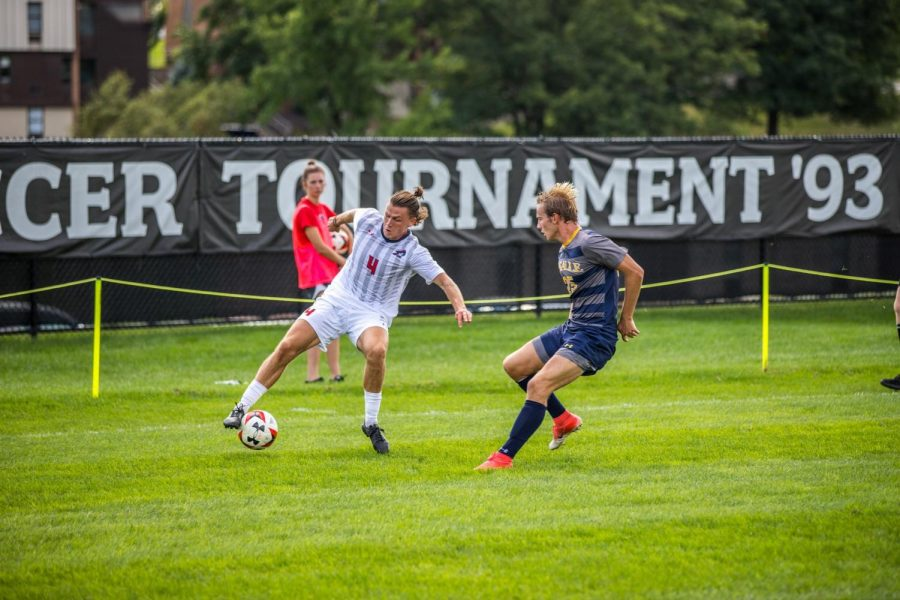 Men's soccer hosts Purdue Fort Wayne. Photo Credit: David Auth
