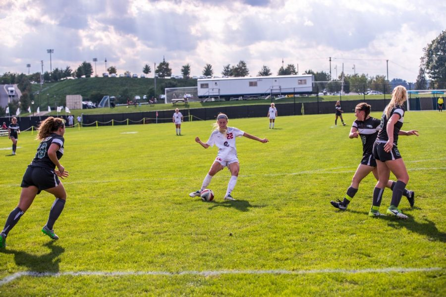 Women's soccer heads to the Motor City to take on the Titans. Photo Credit: David Auth