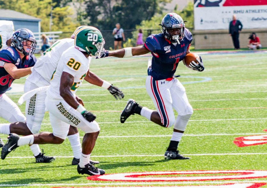 RMU will have to wait for their Big South opener with their game Saturday against Monmouth canceled. Photo Credit: David Auth