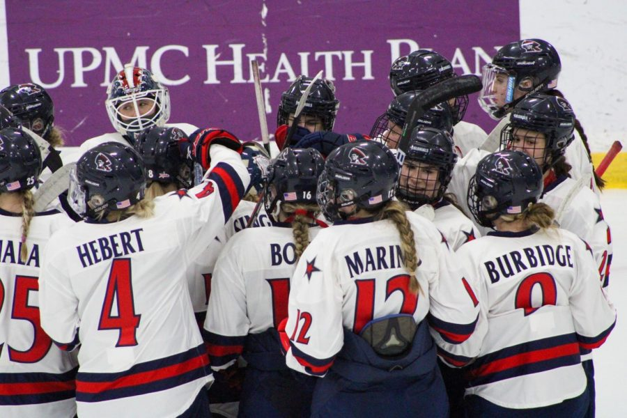 Women's hockey has a tough task at hand when they take on top-ranked Northeastern in the NCAA tournament. Photo Credit: Tyler Gallo