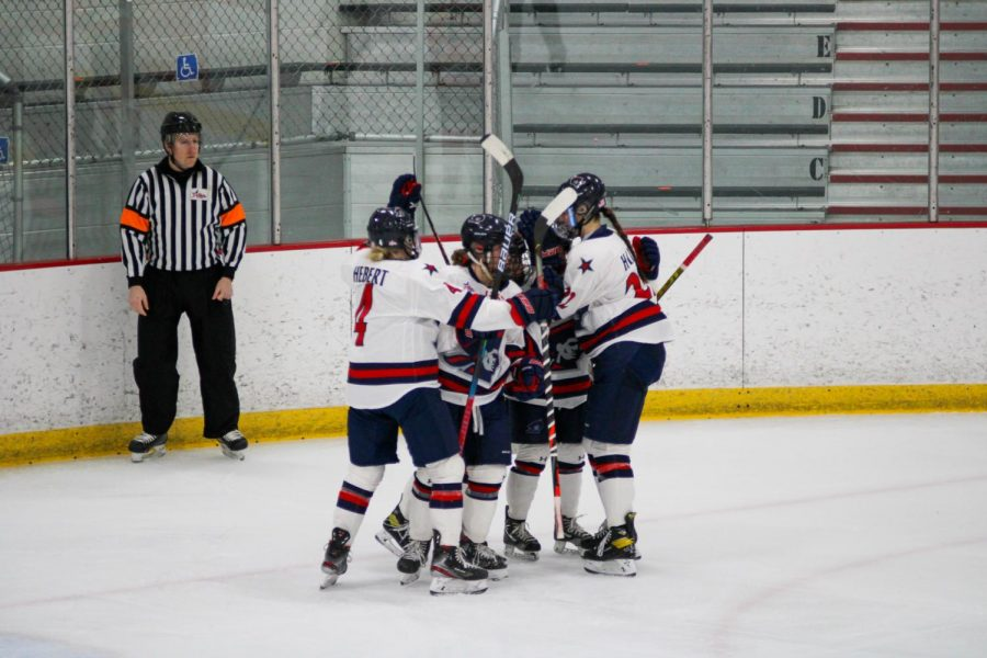 Women's hockey rolled no. 1 Northeastern for their first-round NCAA Tournament matchup. Photo Credit: Nathan Breisinger