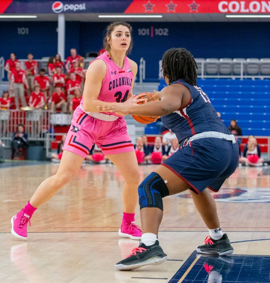 Holly Forbes will grad-transfer from Robert Morris. Photo Credit: Thomas Ognibene