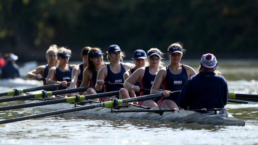 Rowing commences their season in Fairfax, Virginia at the Occoquan Sprints. Photo Credit: RMU Athletics