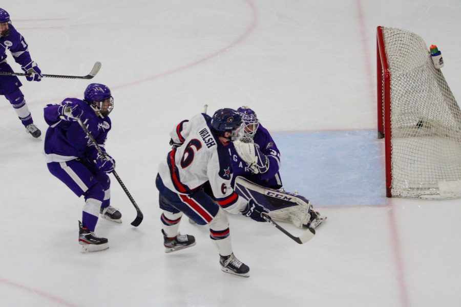 Darcy Walsh buries the overtime winner against Niagara. Photo Credit: Tyler Gallo