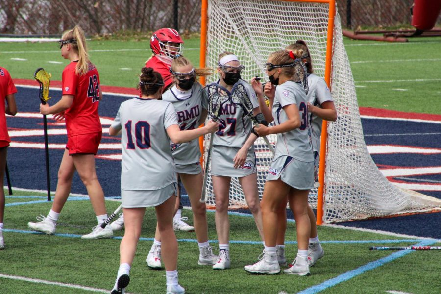 Clio+Kerr+celebrates+one+of+her+three+goals+on+Saturday.+Photo+Credit%3A+Tyler+Gallo