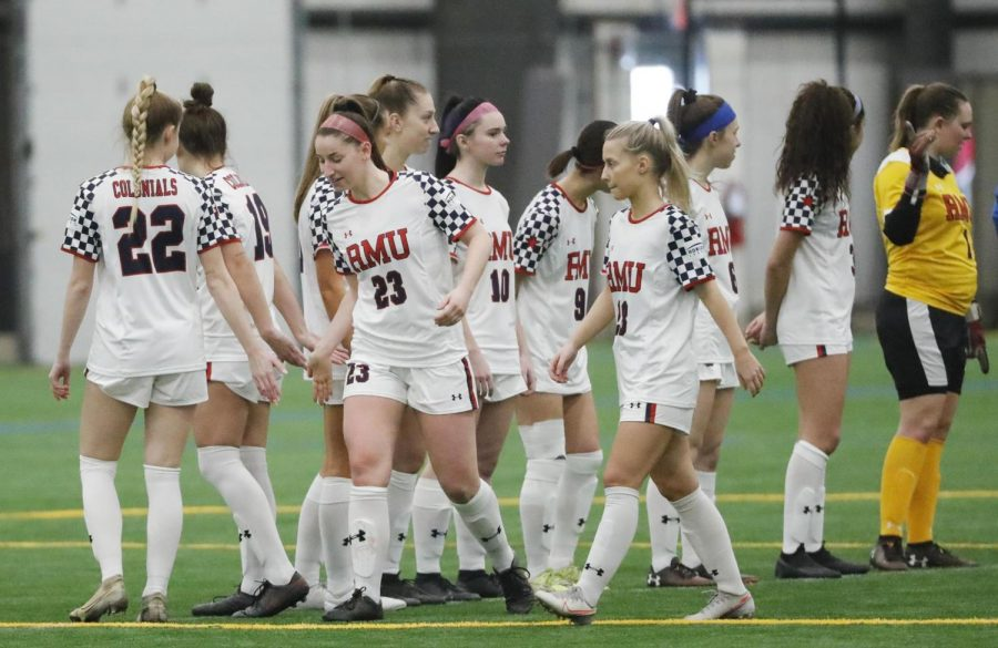 Women's soccer will attempt to close their season with a win on Monday. Photo Credit: Jason Cohn/RMU Athletics