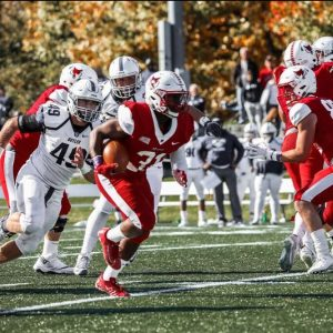 Anthony Purge, a running back from Marist College, has committed to Robert Morris as a grad transfer. Photo Credit: Marist Athletics