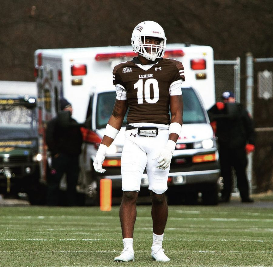 Divine Buckrham is one of the newest additions to Robert Morris football and he sat down with Colonial Sports Network to discuss his career and arrival. Photo Credit: Lehigh Athletics