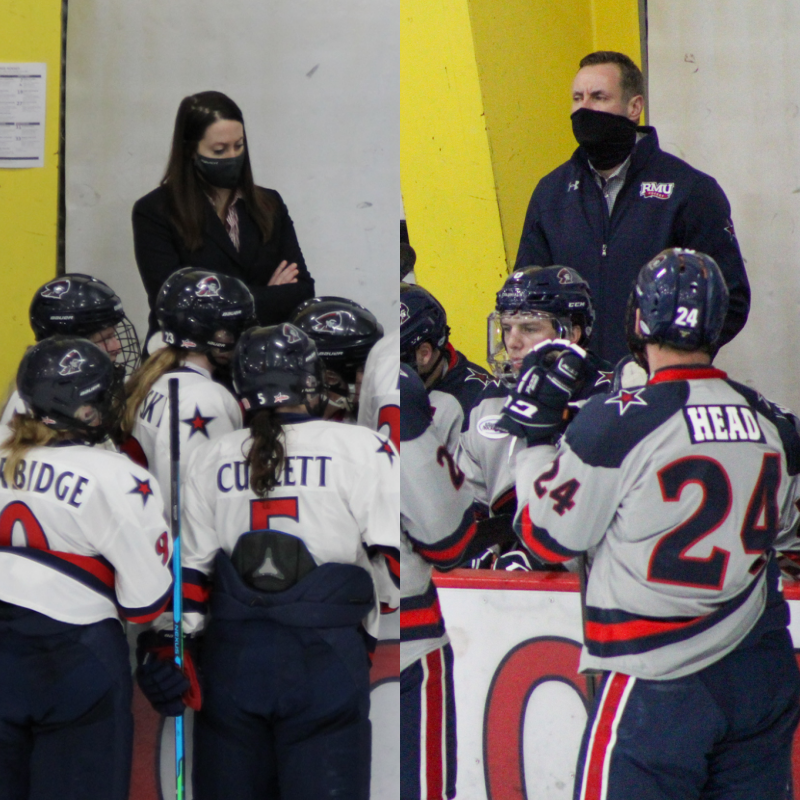 Jen Kindret was named the head coach of Saint Anselm womens hockey while Mike Corbett landed the assistant coach job at Quinnipiac. Photo(s) Credit: Nathan Breisinger, Tyler Gallo