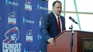 Athletic Director Chris King spoke to Colonial Sports Network about the recent hockey news. Photo Credit: RMU Athletics