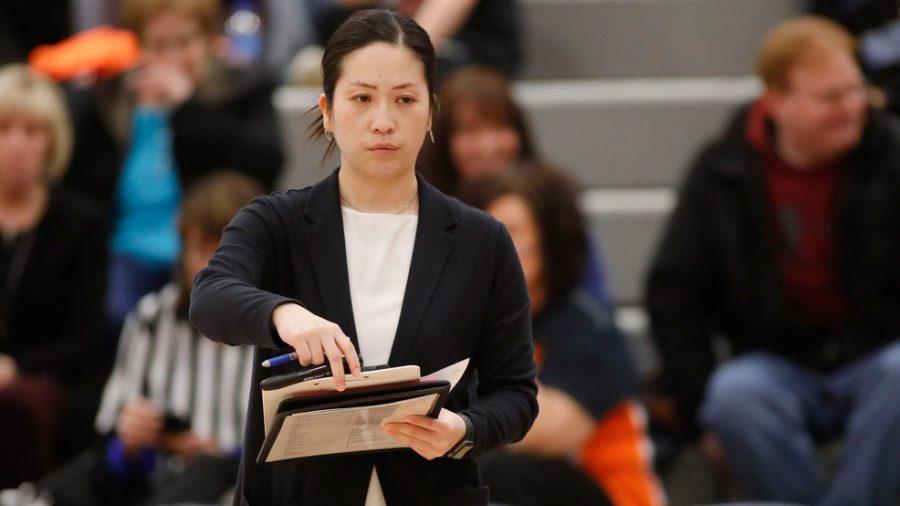 Asami Morita was named assistant coach for womens basketball at Nevada. Photo Credit: RMU Athletics