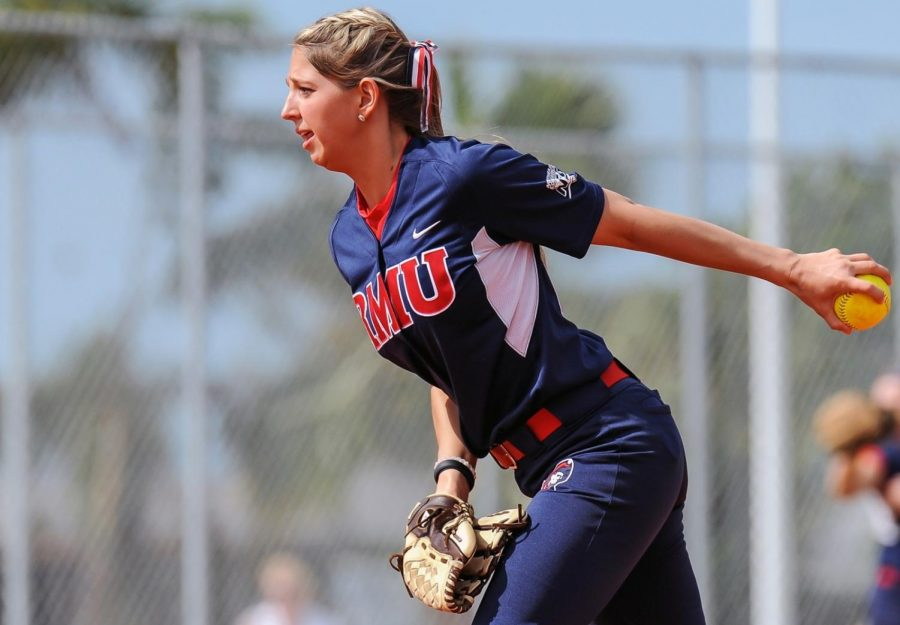 Nicole Sleith was named to the NEC Mount Rushmore. Photo Credit: RMU Athletics