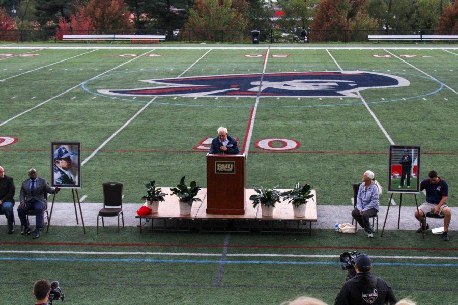 RMU Football honored Joe Waltons memory.